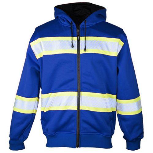 Kishigo Blue Hooded Sweatshirt