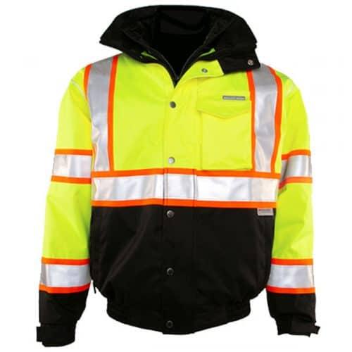 Kishigo Safety Green Bomber Jacket