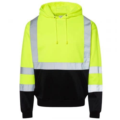Kishigo Safety Green Hooded Sweatshirt
