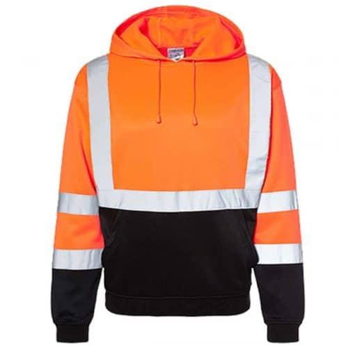 Kishogo Safety Orange Hooded Sweatshirt