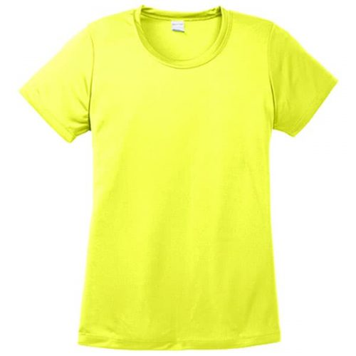 Ladies Dry Fit Safety Green Shirt