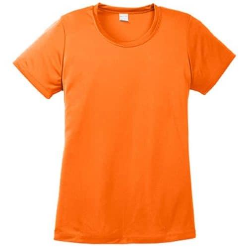 Ladies Dry Fit Safety Orange Shirt