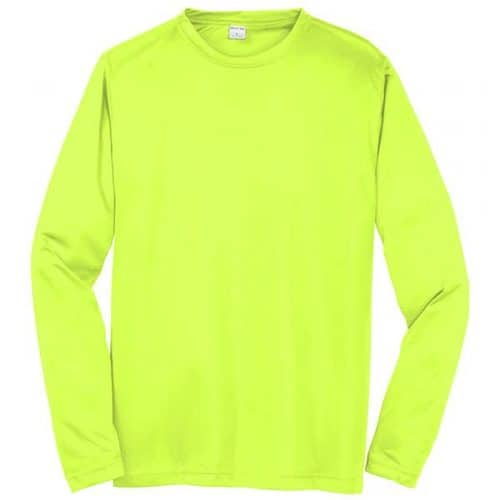 Long Sleeve Dry Fit Safety Green Shirt