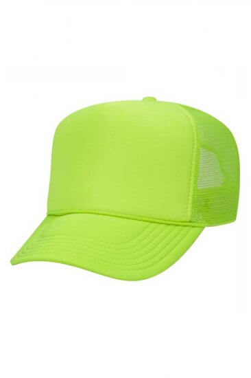 Mesh back cap in Safety Green