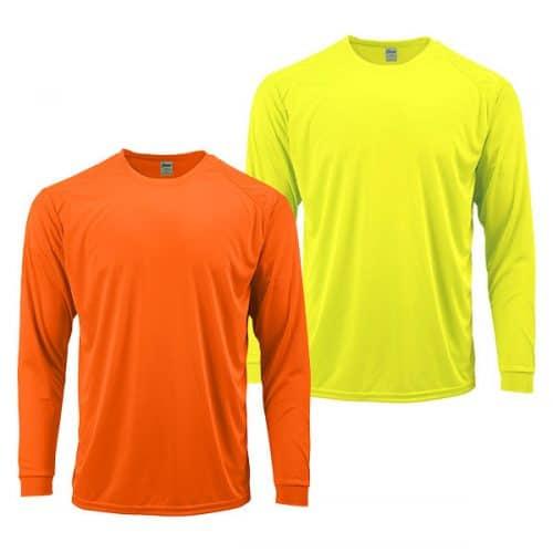 Hi Vis Long Sleeve Dry Fit Shirts