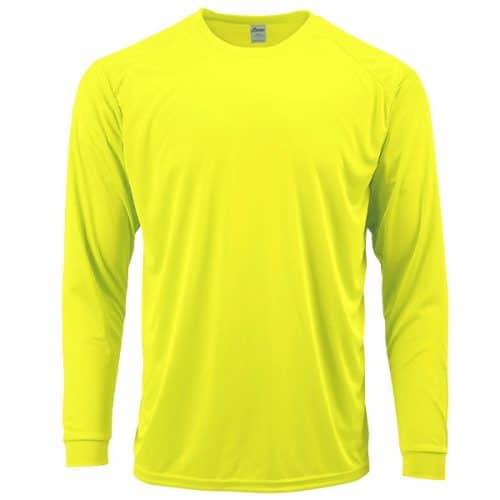 Hi Vis Green Long Sleeve Dry Fit Shirt