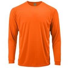 Long Sleeve Dry Fit Hi Vis Orange Shirt