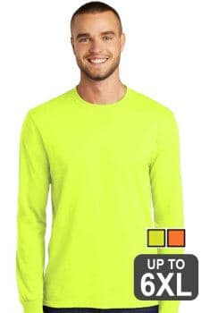 Port & Company Long Sleeve Core Blend Safety Tee