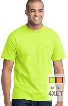 Short Sleeve Tall Safety Shirt With Pocket