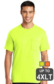 Port & Company Short Sleeve Pocket Safety Shirt – Tall