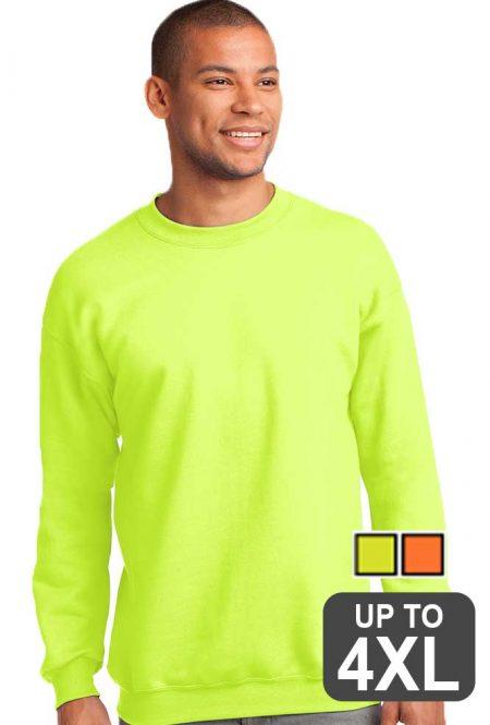 Crewneck safety sweatshirt