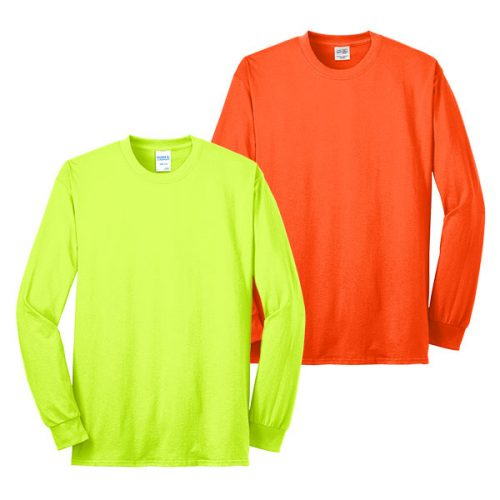 Long Sleeve Port and Company Safety Shirt