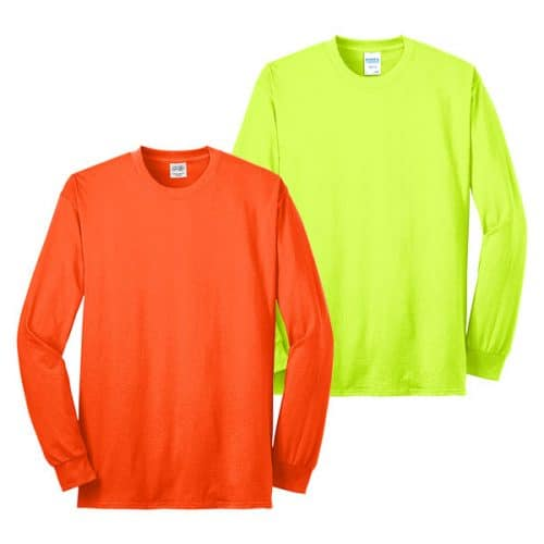 Port and Company Long Sleeve Safety Shirts