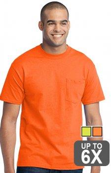 Port & Company Short Sleeve Pocket Safety Shirt