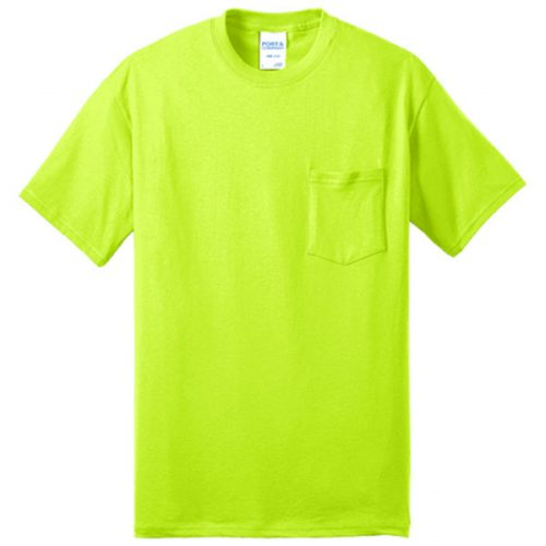 Safety Green Shirt with Pocket