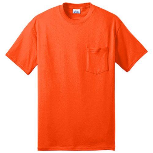 Safety Orange Pocket Shirt
