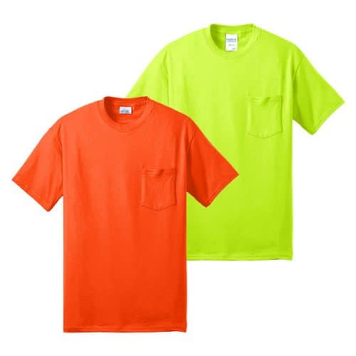 Port and Company Tall Pocket Safety Shirts