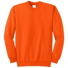 Port And Company Safety Orange Crewneck