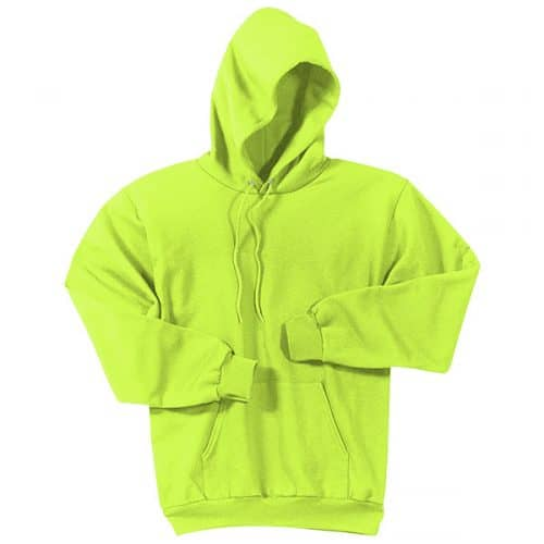 Hooded Sweatshirt in Safety Green