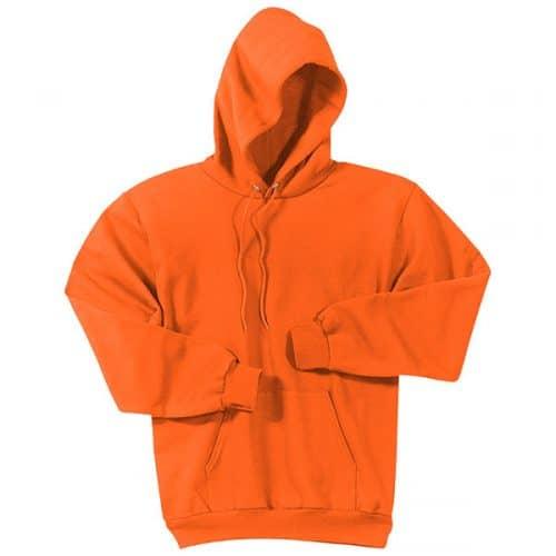 Safety Orange Hooded Sweatshirt