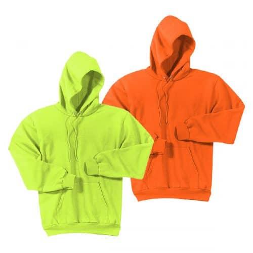 Big and Tall Hooded Safety Sweatshirts