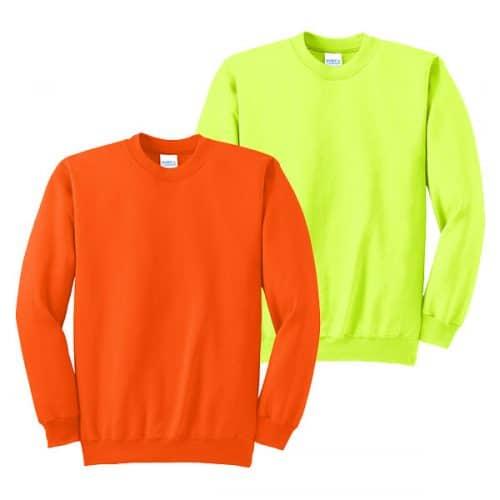 Port and Company Tall Crewneck Safety Sweatshirts