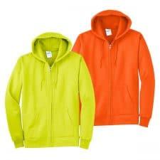 Port & Company Safety Fleece Full-Zip Hooded Sweatshirt
