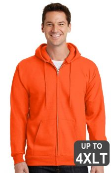 Port & Company Safety Fleece Full-Zip TALL Hooded Sweatshirt