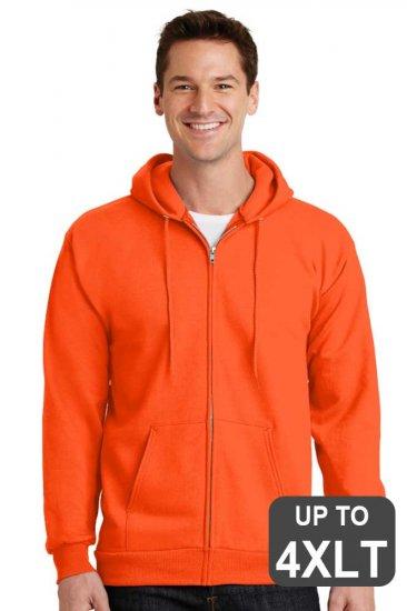 Tall Hooded Full Zip Safeety Hooded Sweatshirt