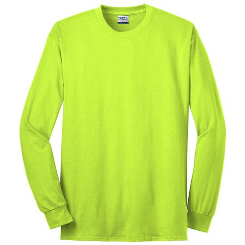 Made in USA Safety Green Long Sleeve Shirt