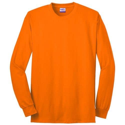Made in USA Long Sleeve Safety Orange Shirt