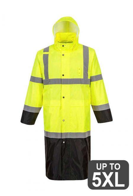 Long Safety Rain Jacket