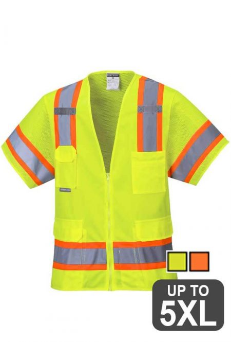 reflective two-tone Safety Vest