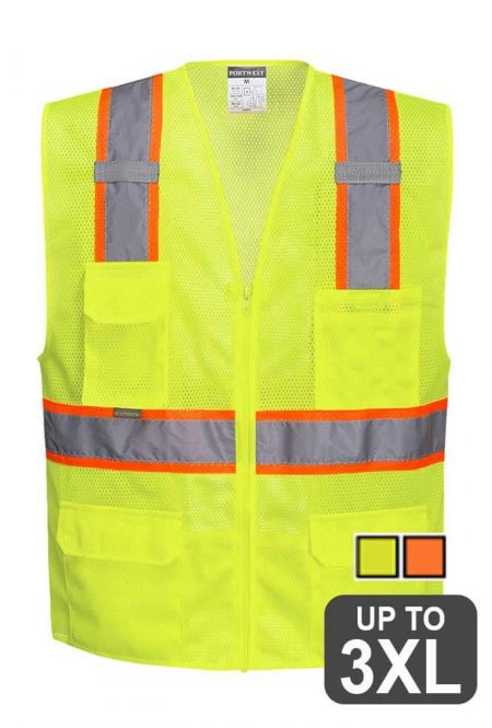 Two-tone Class 2 Safety Vest