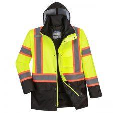 Portwest Hi-Vis Contrast Safety Traffic Jacket