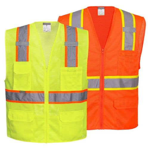 Portwest Safety Vests with Contract Trim