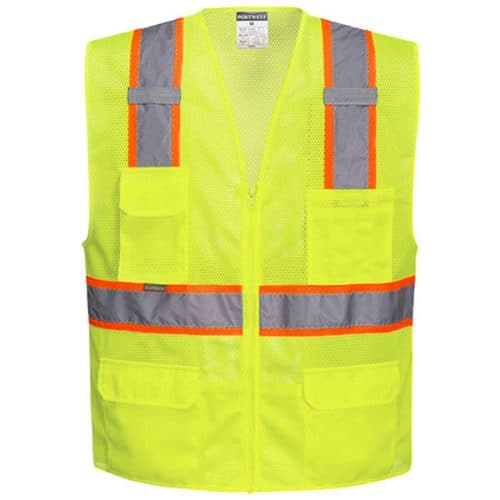 Safety Green Vest with Contrasting Trim