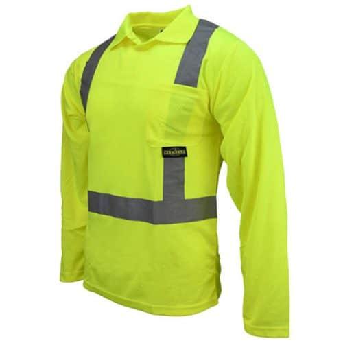 Radians Long Sleeve Safety Green Shirt