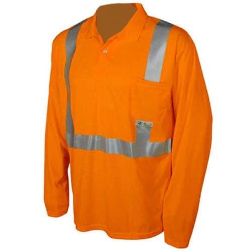 Radians Safety Orange Long Sleeve Reflective Shirt