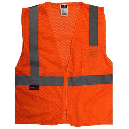 Radians Safety Orange Economy Vest with Zipper