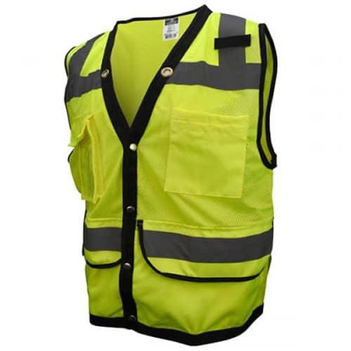 Hi Vis Green Heavy Duty Safety Vest