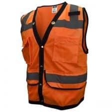 Hi Vis Orange Heavy Duty Safety Vest