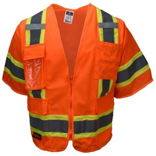 Safety Orange Radians Class 3 Surveyors Vest