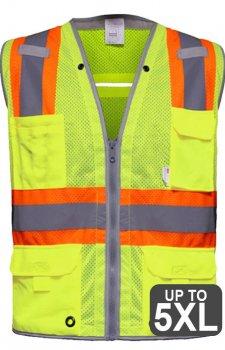 RAF 589-ET Multi-Pocket Hi Vis Mesh Safety Vest