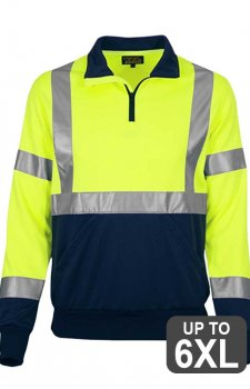 RAF 605 Hi Vis 2-Tone Safety Quarter Zip Fleece