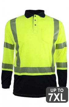 RAF VEA-316 Long Sleeve Hi Vis Safety Polo