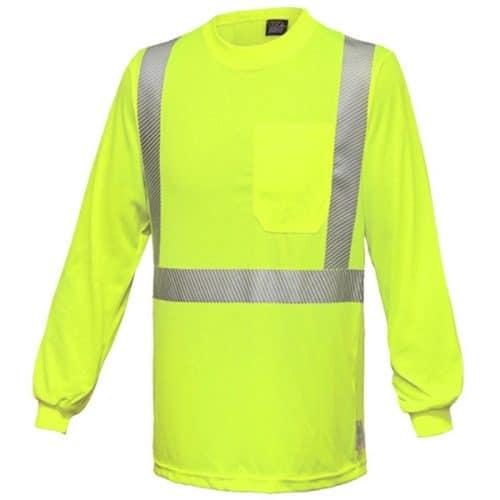 RAF Long Sleeve Class 2 Safety Green Shirt