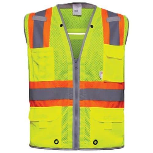 RAF Safety Green Vest with Contrast Trim