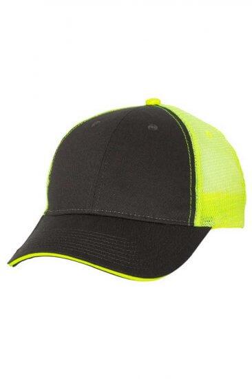 Sandwich Trucker Hat in Safety Green/Charcoal