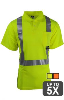 Radians Safety Short Sleeve Pocket Polo